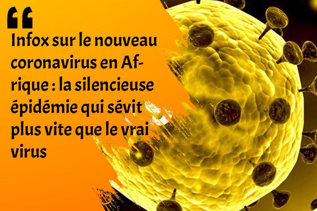 Infox关于非洲新的冠状病毒的研究:沉默流行比真正的病毒还快
