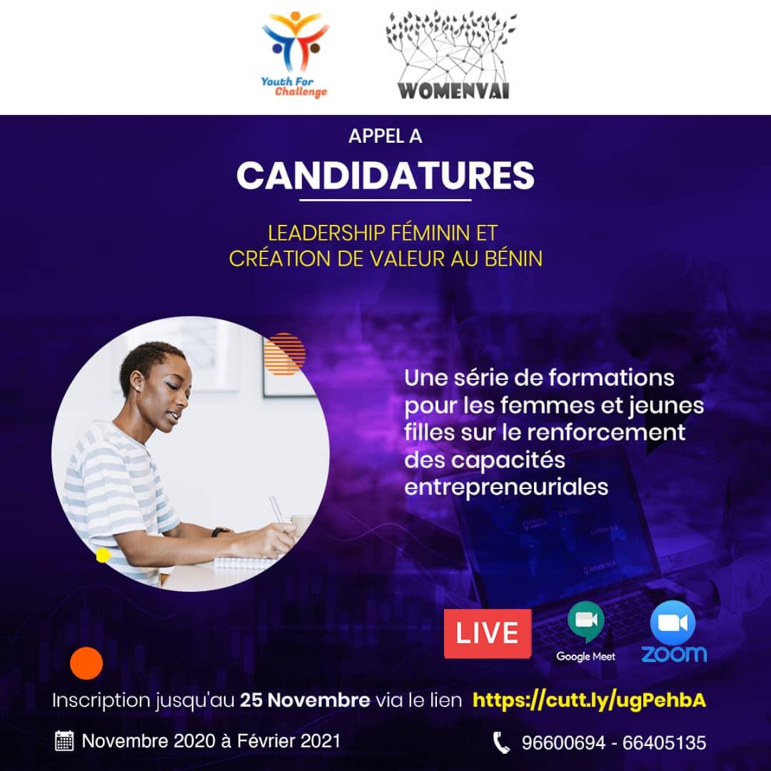 Registrierung Training Entrepreneurship WOMENVAI_YFC Aufruf zur Bewerbung